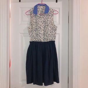 Maison Jules Dress  Cheetah print in navy blue